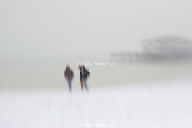 Seafront Snow Walk
